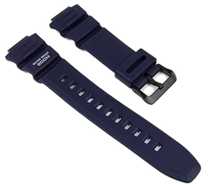 2av De Reloj Wv 200a Wv200u Band 200e Oscuroazul Casio Correa Resin WE9DH2I
