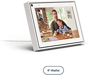 """Facebook Portal Mini Smart Video Calling 8"""" Touch Screen Display with Alexa White"""