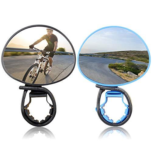 No/Brand Yisika Fietsspiegels,2 paar Fietsen Rijden Fiets Achteruitkijkspiegel,Verstelbare Draaibare Stuur gemonteerde…