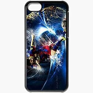 XiFu*MeiPersonalized iphone 5/5s Cell phone Case/Cover Skin Messi barcelona BlackXiFu*Mei