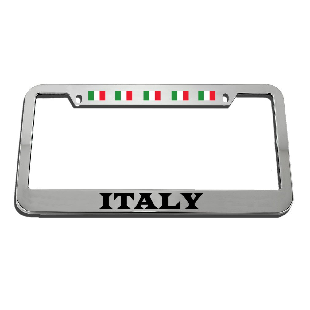 Speedy Pros Italy Style 2 License Plate Frame Tag Holder