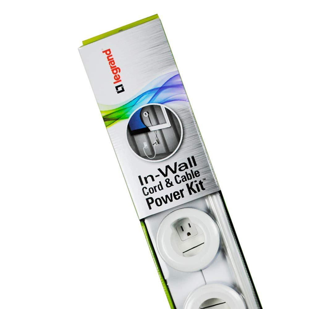 Legrand - Wiremold CMK70 Flat Screen TV Cord and Cable Power Kit, Recessed In-Wall Cable Management System with PowerConnect, White. by Wiremold