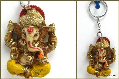 Amazon.com: Ganesha Llavero con Espiritual Hindú Dios ...