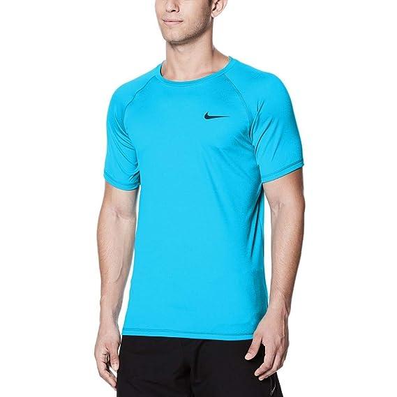 cheaper 16d85 e2221 Nike Men s Swim Solid Short Sleeve Hydroguard  Amazon.co.uk  Clothing