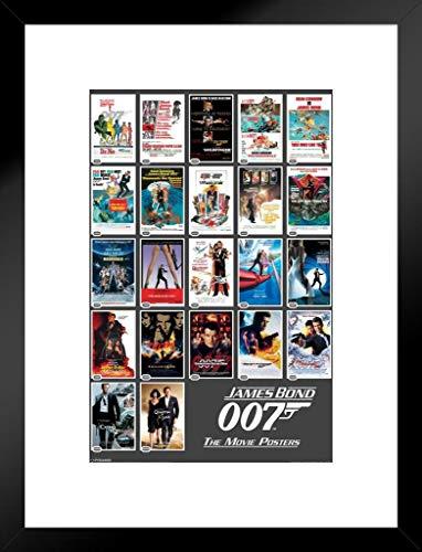 Pyramid America James Bond Portfolio Movie Matted Framed Poster 20x26 inch