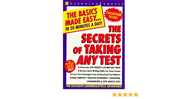 The secrets of taking any test learning express editors the secrets of taking any test learning express editors 9781576850718 amazon books fandeluxe Image collections