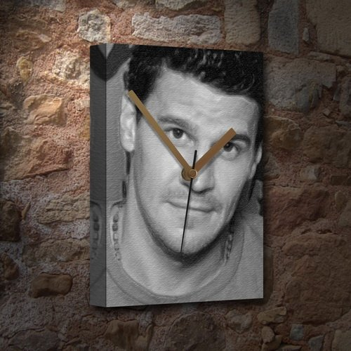 vas Clock (LARGE A3 - Signed by the Artist) #js011 (David Boreanaz Poster)