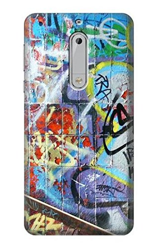 Innovedesire Wall Graffiti Funda Carcasa Case para Nokia 5 ...