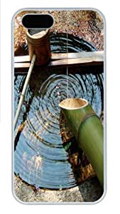 Bamboo water1 PC Case Cover for iPhone 5 and iPhone 5s White Halloween gift