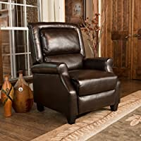 Montana Brown Bonded Leather Arm Chair Recliner