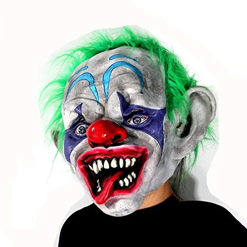 Scary Circus Clown Halloween Mask, Halloween Party Costume