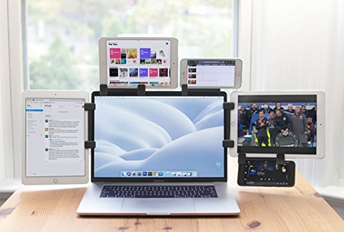 Ten One Design Mountie+ Mount Large Tablets and Portable Monitors for An Instant Second or Third Display for Your Laptop Computer (T1-MULT-200) - Grey by Ten One Design (Image #1)