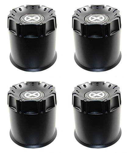 Set (4pcs) American Racing ATX Black Center Hub Caps Push-Thru 8 Lug 5. 15
