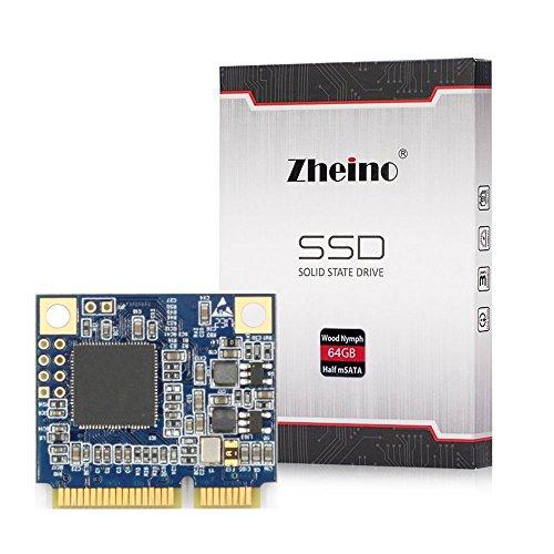 Zheino 64gb Half Size mSATA SSD Mini mSATA (Half Size) SATAIII 64GB SSD Solid State Drive 26.8mm(L) 30.1mm(W) 3.5mm(H)