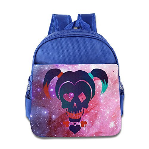 [ZZYY Boys And Girls Suicide Squad Harley Quinn School Bag Backpack Cool For 1-6 Years Old RoyalBlue] (Harley Quinn Smith Costume)