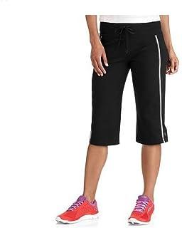cf497eeb9ce Danskin Now Women s Dri-More Core Striped Bermuda Below Knee Shorts  Activewear