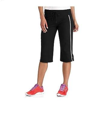 534a25120a0 Danskin Now Women s Dri-More Core Striped Bermuda Below Knee Shorts  Activewear at Amazon Women s Clothing store
