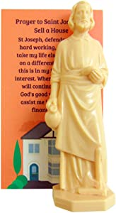 Westmon Works St Joseph Statue for Selling Homes with Instruction Card and House Prayer Complete Set