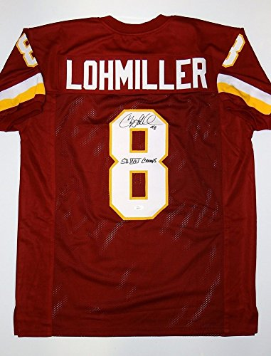 Chip Lohmiller Signed Maroon Pro Style Jersey (Size XL) - JSA Authenticated - Maroon Chip