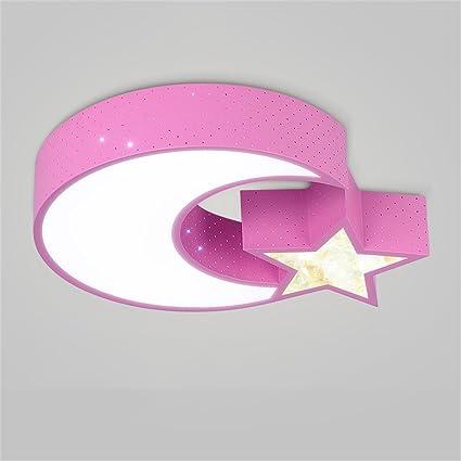 Ali@Luz de techo para niños Lámpara de techo estrella Luna ...