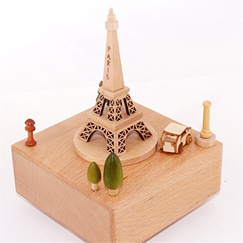 Celsy Wind Up Musical Box as Birthday Gift and Christmas Gift for Lover Friends and Children (Paris (Tender Music Box)