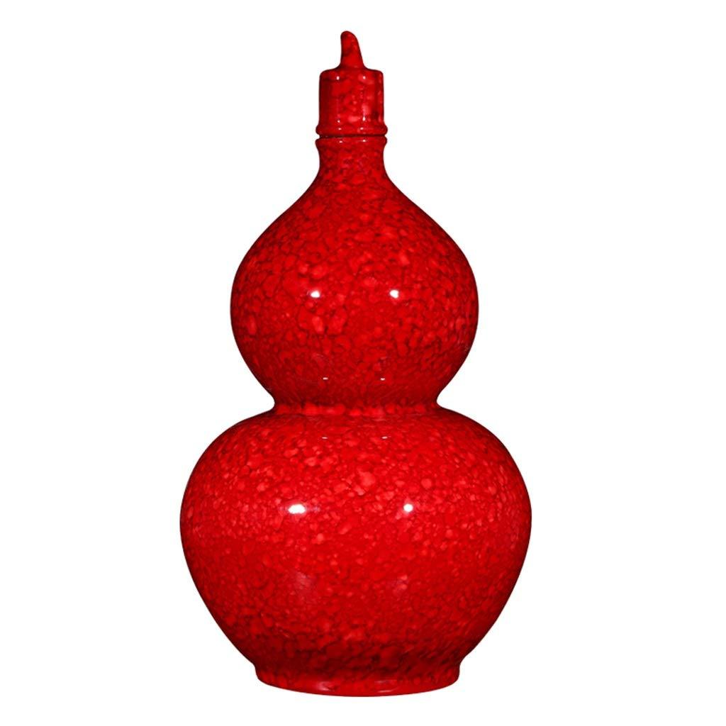 MAHONGQING 花瓶セラミック中国ひょうたん風水花瓶装飾クリエイティブホームリビングルームマホガニーワインキャビネット装飾 B07RRX1GYD