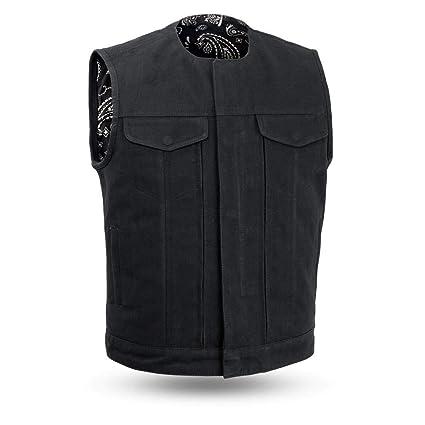 0dd6dc49c3e First Mfg Co - Chaleco de lona para hombre (talla M), color negro ...