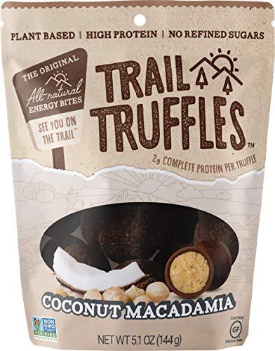 Trail Truffles - Vegan, Paleo Friendly Superfood Protein Balls - Healthy, Plant Based, Gluten Free, Dairy Free, Soy Free, Non-GMO Snacks (Coconut Macadamia, 1 Pack)