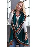 Ryan Michael Women's Thunderbird Shawl Evergreen One Size