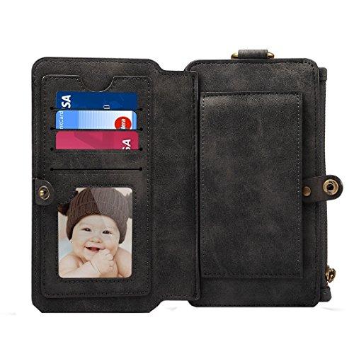 Mobiltelefonhülle - Dibase Multifunktions Schafstab Material Universal Horizontale Flip Case für iPhone 6 / 6S / 7 mit Halter & Card Slots & Foto Frame & Hook & Abnehmbare Rückenschutz Fall