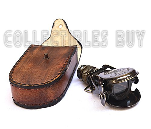 Collectibles Buy Vintage Small Antique Single Binocular With Leather Case Maritime R & J Beck London Nautical Pirate 1492 Authentic Replica