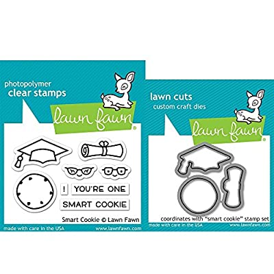 Lawn Fawn Clear Stamp & Die Set - Smart Cookie LF1175 & LF1176