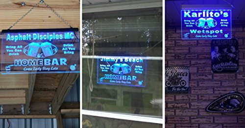 p-tm-b Name Personalized Custom Home Bar Beer Neon Light Sign Blue 16'' x 12'' by AdvPro Custom (Image #5)