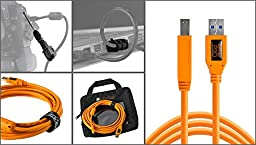 Starter Tethering Kit with Orange USB 3.0 SuperSpeed A to B 15\'