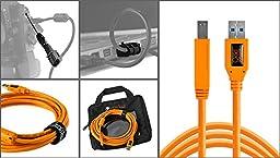 Starter Tethering Kit with Orange USB 3.0 SuperSpeed A to B 15\'