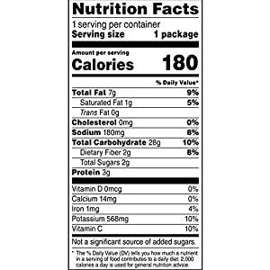 Lay's Kettle Cooked 40% Less Fat Salt & Vinegar Flavored Potato Chips, 1.375 Ounce (Pack of 64)