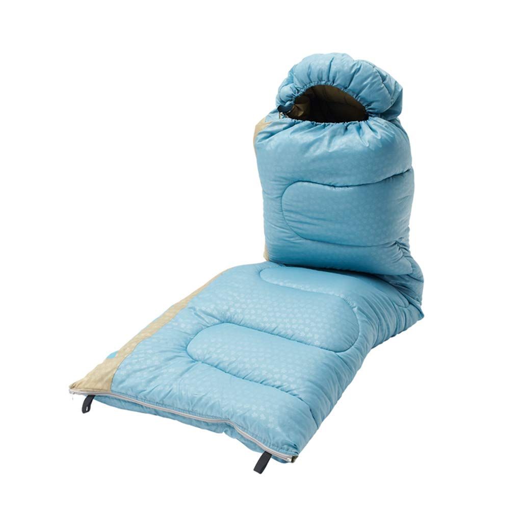 LCSHAN 寝袋ポリエステルポリエステルウォームシックアウト屋外キャンプ大人のハイキング防水 (容量 : C, 色 : Orange) B07F9ZGFLH 青 A A|青