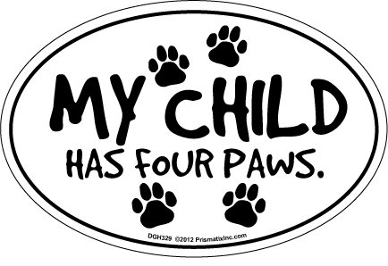 Prismatix Decal Cat and Dog Magnets, Child Has Four Paws