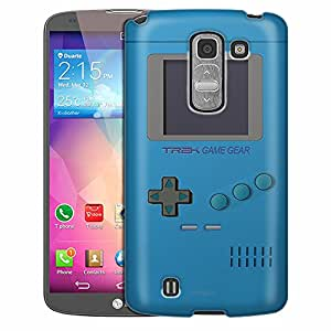 LG G Pro 2 Case, Slim Fit Snap On Cover by Trek Old School Retro TREK™ Game Gear Blue Case