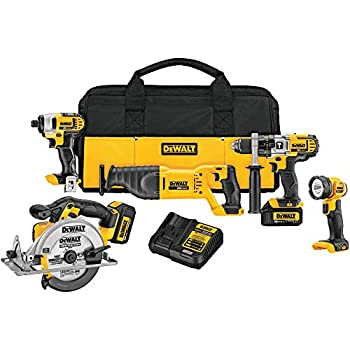Image of DEWALT 20V Max Cordless Drill Combo Kit, 5-Tool (DCK590L2) Home Improvements