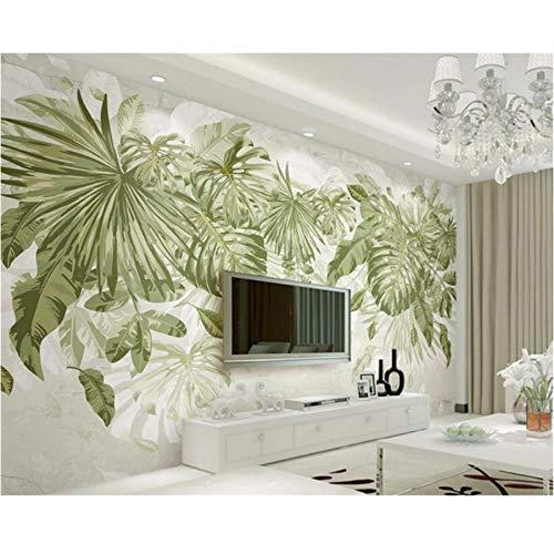 Murs Les Pour Peint Papier Chambre Salon Mur Fond Vent Jungle Plante ...