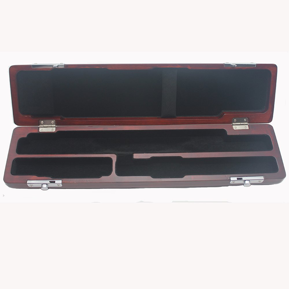 365invent C foot Flute Hard Wooden Case French Style High Quliaty 16 Holes Flute Case(Red color)