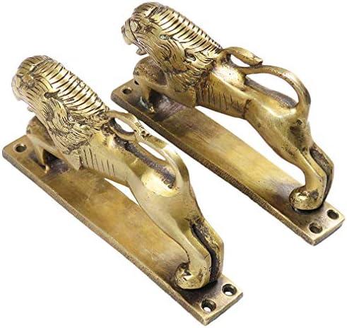 "Details about  /6/"" Pair Brass Fish Cabinet Pulls Door Handles Antique Bronze Indian Bohemia Hand"