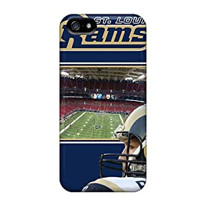 JohnPrimeauMaurice Iphone 5/5s Scratch Protection Phone Cases Support Personal Customs Beautiful St. Louis Rams Series [VOw714xQIS]