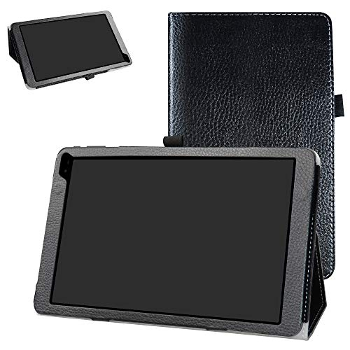 Bige PU Leather Folio 2-Folding Stand Cover for Barnes & Noble Nook Tablet 10 (BNTV650) 10.1-inch Tablet