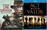 Navy True Story Act of Valor 2 Blu-Ray Bundle & Lone Survivor Seals Steelbook Double Feature Movie Bundle