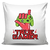 DoozyGifts99 True Gamer-Cool Videogame Lover-Gaming Gift Ideas For Cute Game Men Women Throw Pillow