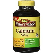 Nature Made Calcium 500 mg + Vitamin D3 Tabs, 300 ct