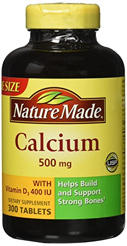 Nature Made Calcium 500 mg + Vitamin D3 Tabs, 300 - Tabs Chew 500