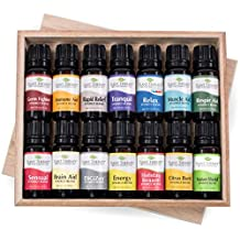 14 Top Synergies Essential Oil Set Includes 10 ml each: Sensual, Tranquil, Rapid Relief, Holiday Season, Energy, Digest Aid, Brain Aid, Respir Aid, Immune Aid, Muscle Aid, Relax, Nature Shield, Citrus Burst, Germ Fighter